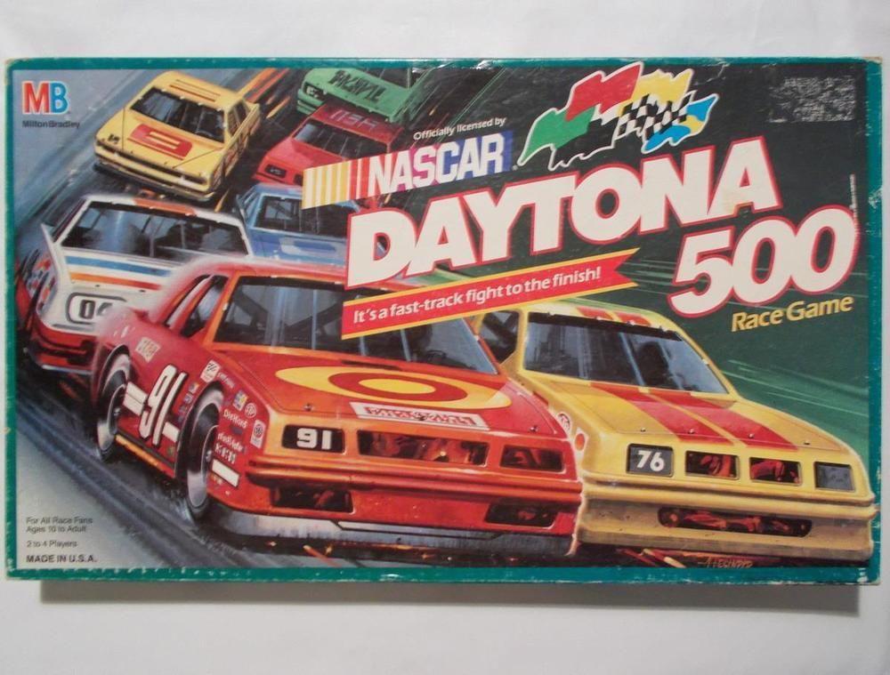 Nascar Daytona 500 Race Game Milton Bradley Complete 1990