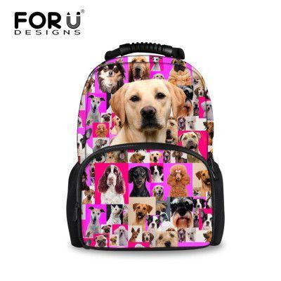 92d92342dc FORUDESIGNS Preppy School Bags for Teenagers Girls Cute Cat Dog Print Kids  Children Schoolbags Women Book Bag Mochila Escolar