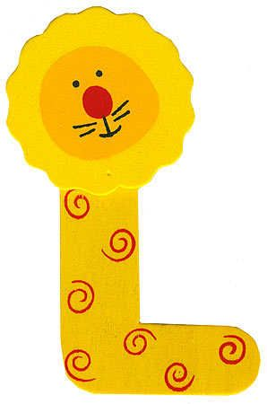 "alphabet craft |  painted alphabet letter ""l"" animal"