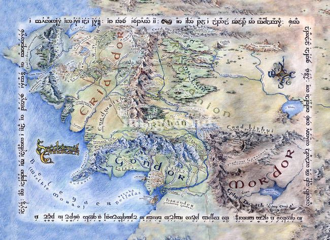 Ennorath Map of Middle Earth