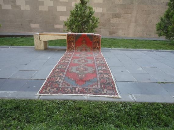 Best Vintage Turkish Low Pile Runner Rugs For Hallway 400 x 300
