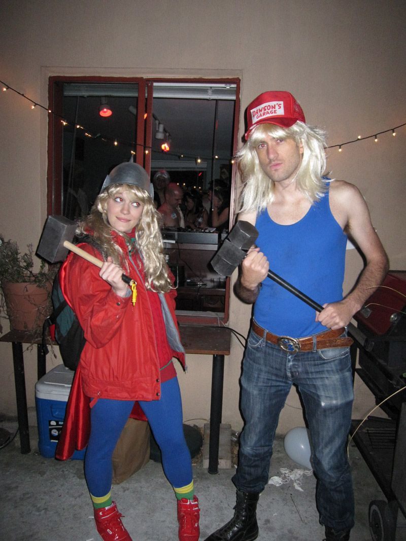 Sara and Thor from Adventures in Babysitting costume. I always wanted to do this!