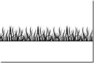 Grass Border Etched Glass Decal