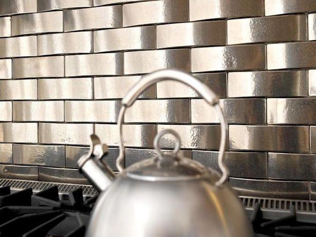 Another Metal Tile Metallic Backsplash Metal Backsplash Kitchen Stainless Steel Kitchen Backsplash
