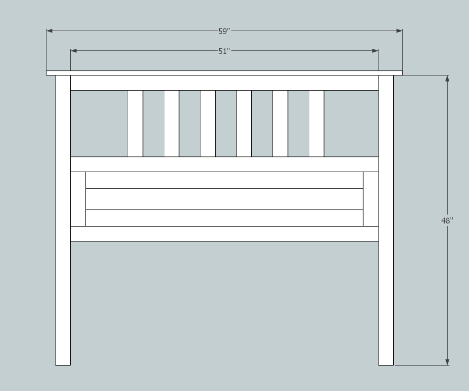 Full Size Slatted Headboard Headboard Plan Slatted Headboard