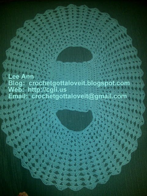 Crochet...Gotta Love It! Blog: Circular Bolero Jacket I made from itty-bittys.blogspot.com; I used 9 skeins Bernat Handicrafter Cotton (1.75 oz, 50 g)  size J Clover hook, Jan 7, 2012 -1.jpg