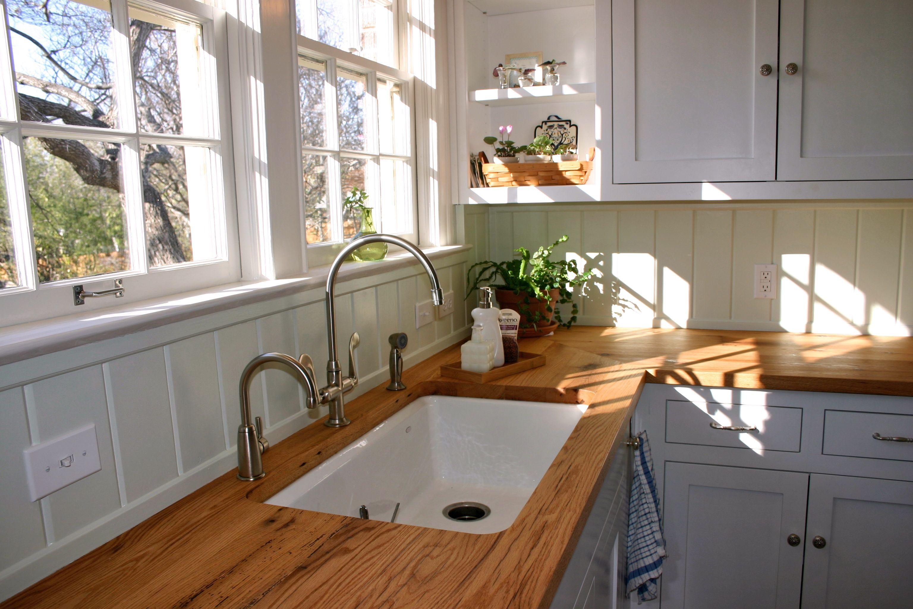 Devos Custom Woodworking Reclaimed White Oak Wood Countertop Photo Gallery