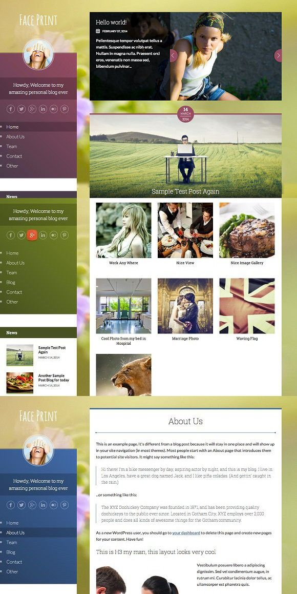 Faceprint Html With Images Photo Stock Images Html Css Blog