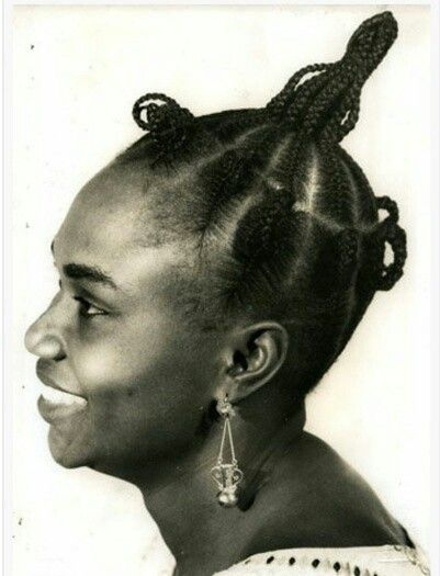 Image result for A Nigerian girl weaving her hair