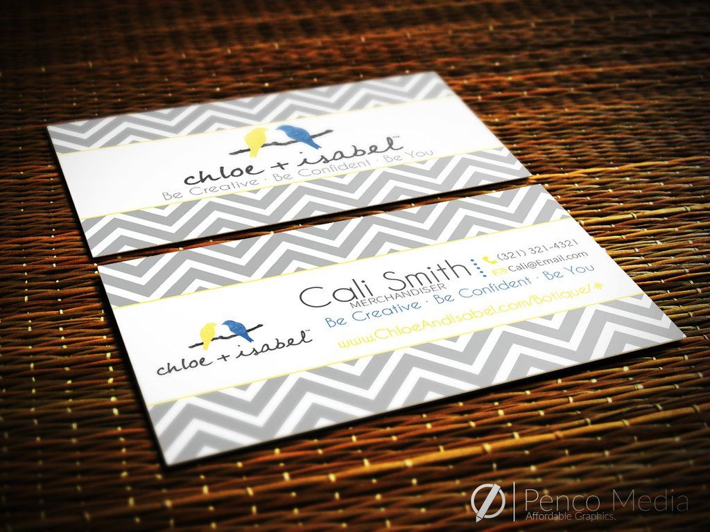Custom Chloe + Isabel Business Card Design #1 | Chloe and Isabel ...