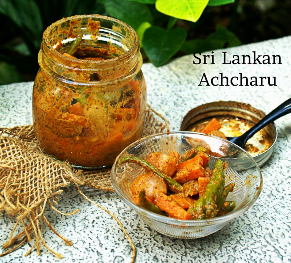 Sri lankan achcharu crunchy spicy and full of zing this sri sri lankan achcharu is a famous pickle can be served as a relish or as a side dish with any main meal forumfinder Choice Image