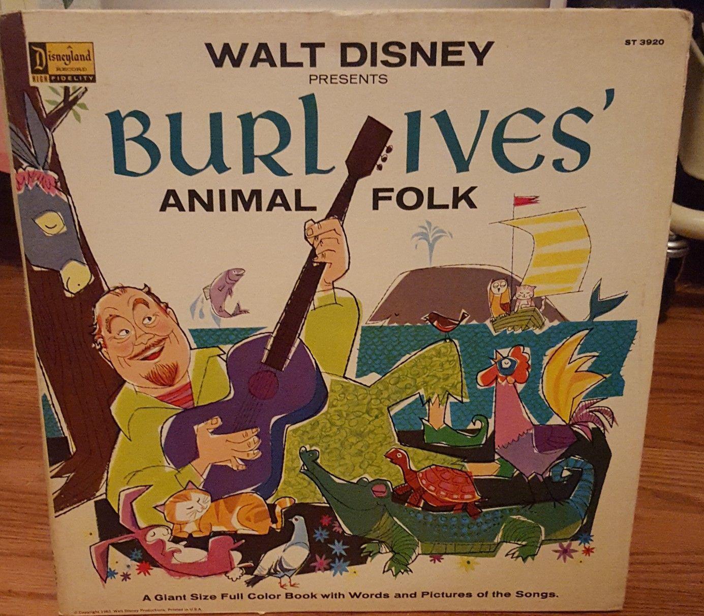 Burk Ives Animal Folk Disney T Coloring Books Vinyl Records