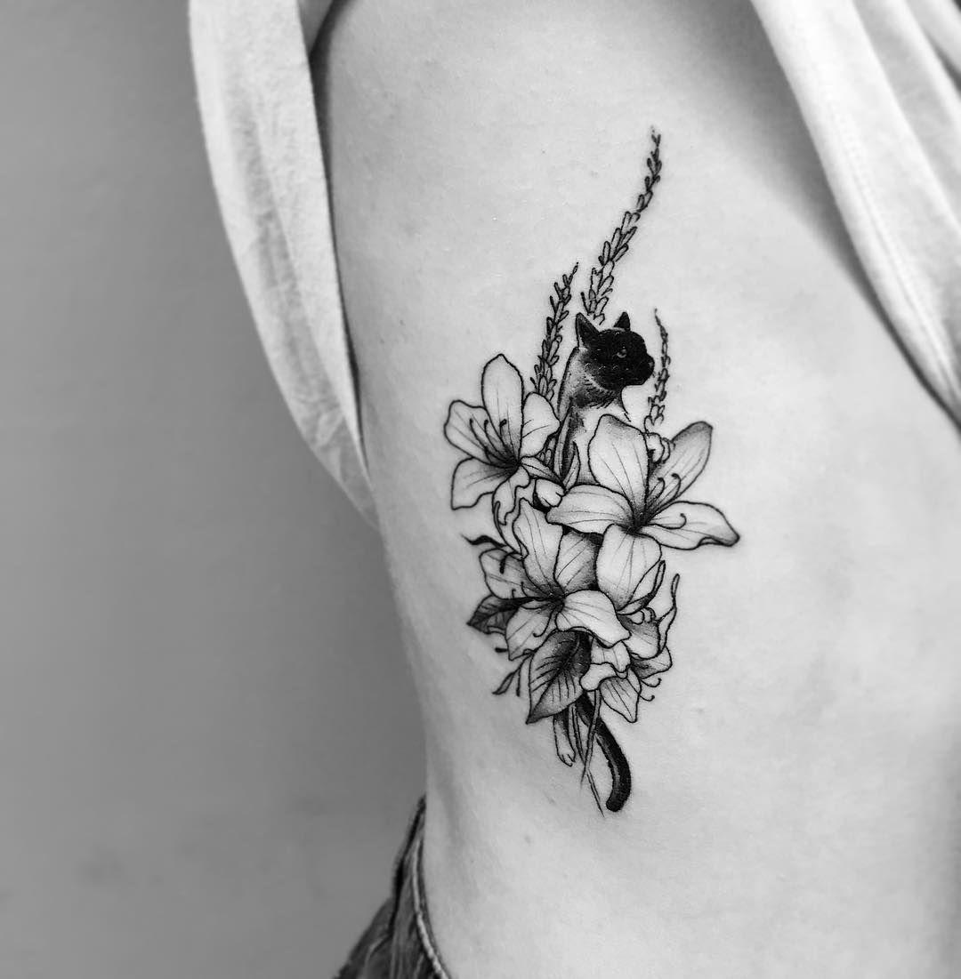 Little Cattoo Done The Other Day Cattattoo Cattoo Firsttattoo Azaleas Monkeygrass Ribcagetattoo Thist Subtle Tattoos Pet Memorial Tattoo Ribcage Tattoo