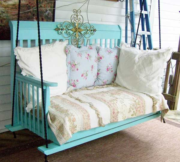 Baby Crib Repurpose   Google Search Crib Swing, Diy Porch, Diy Patio, Porch