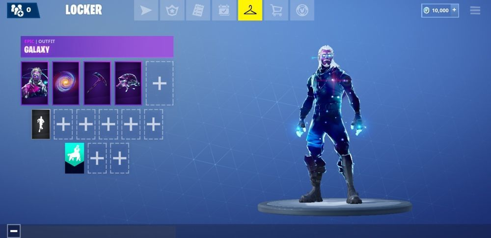 Fortnite Account With Galaxy Skin Glider Disc Pickaxe And 10 000