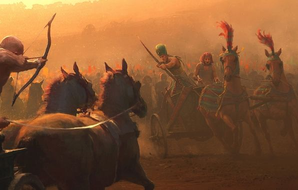 Egypt Warrior Illustration Anubis Pyramid Fantasy Art: Wallpaper Art, Battle, Egypt, Pharaoh