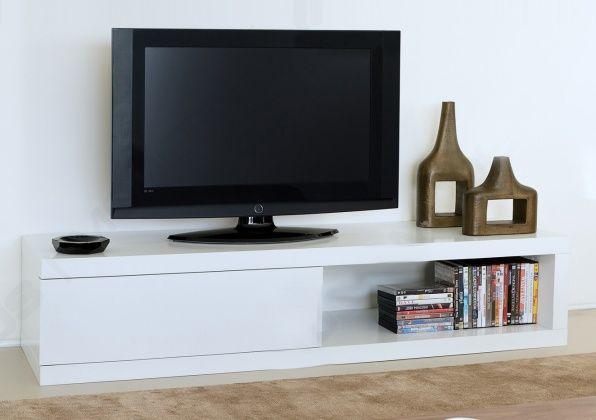 TV LED Meubel - HIFI Audio vloerunit met schuivende paneeldeur ook voor grotere versterkers geschikt.