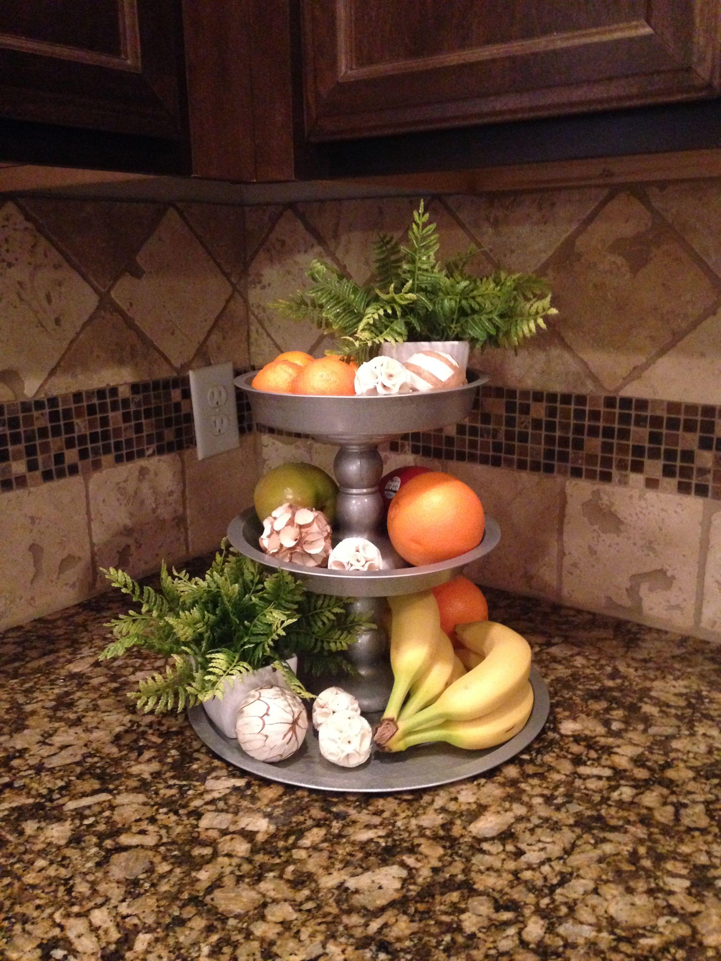 Dollar Tree DIY Three Tier Kitchen Stand decorations