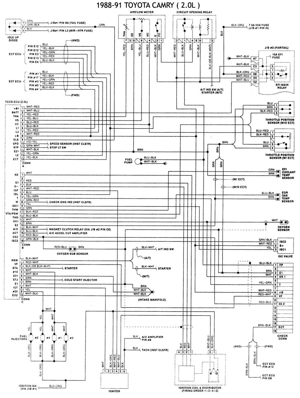 Diagrama De Motor Toyota Camry In 2020 Toyota Camry Automotive Electrical Automotive Repair