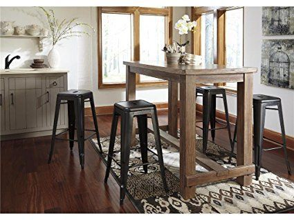 Industrial Farmhouse Dining Room Pub Table Set