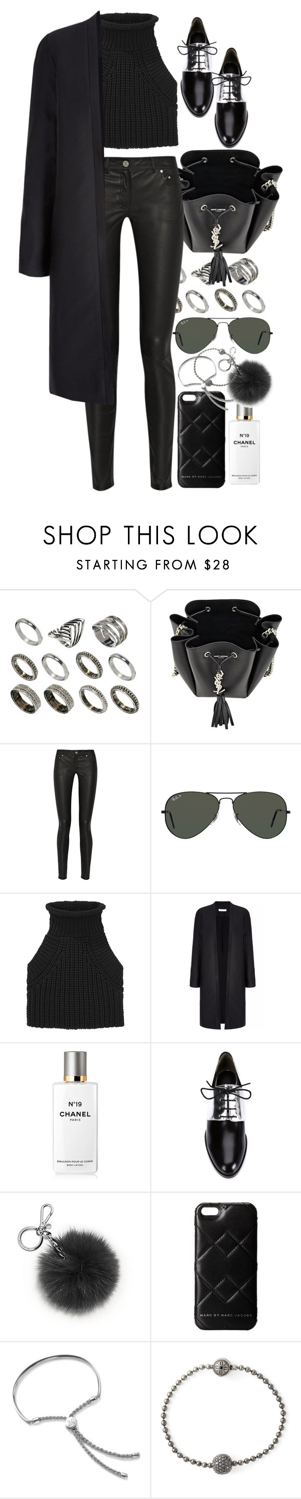 """Untitled #8539"" by nikka-phillips ❤ liked on Polyvore featuring ASOS, Yves Saint Laurent, Acne Studios, Ray-Ban, Alexander Wang, Chanel, 3.1 Phillip Lim, Michael Kors, Marc by Marc Jacobs and Monica Vinader"