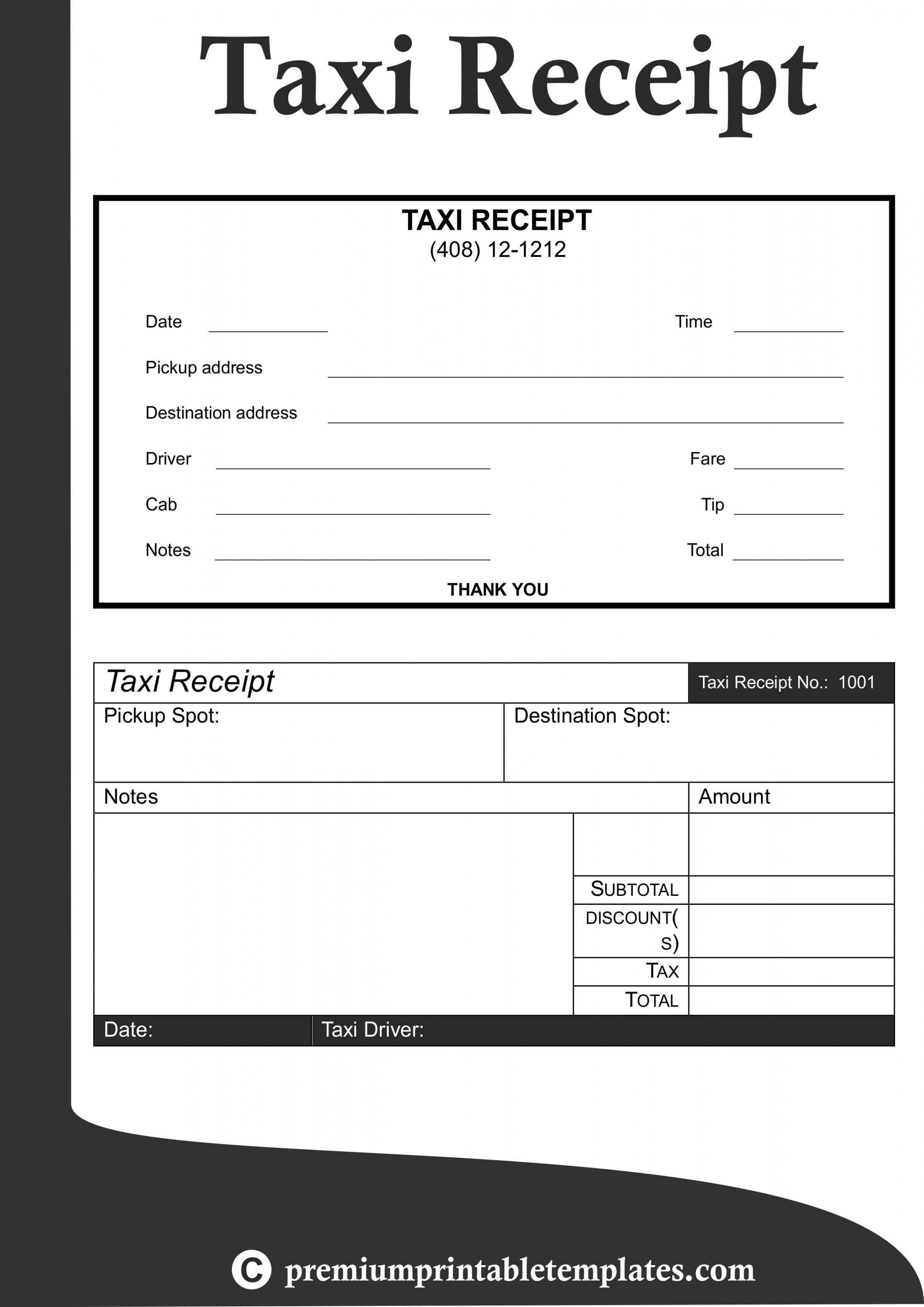 Get Our Free Taxi Receipt Template Receipt Template Invoice Template Business Plan Template