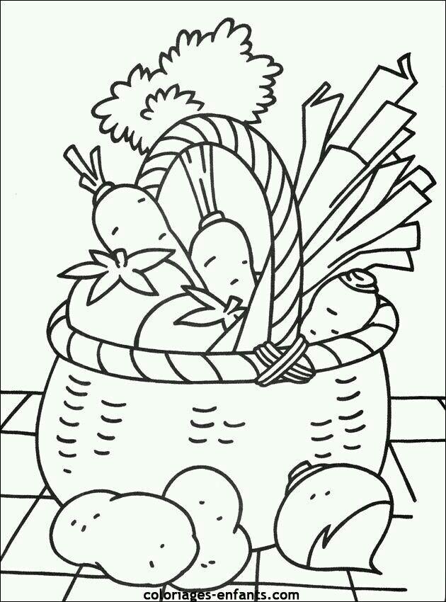 Omalovanka zelenina | omalovanky | Pinterest | Kids colouring ...