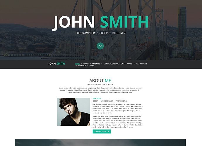 Best WordPress Themes for Personal Resume Websites Final Project - wordpress resume themes