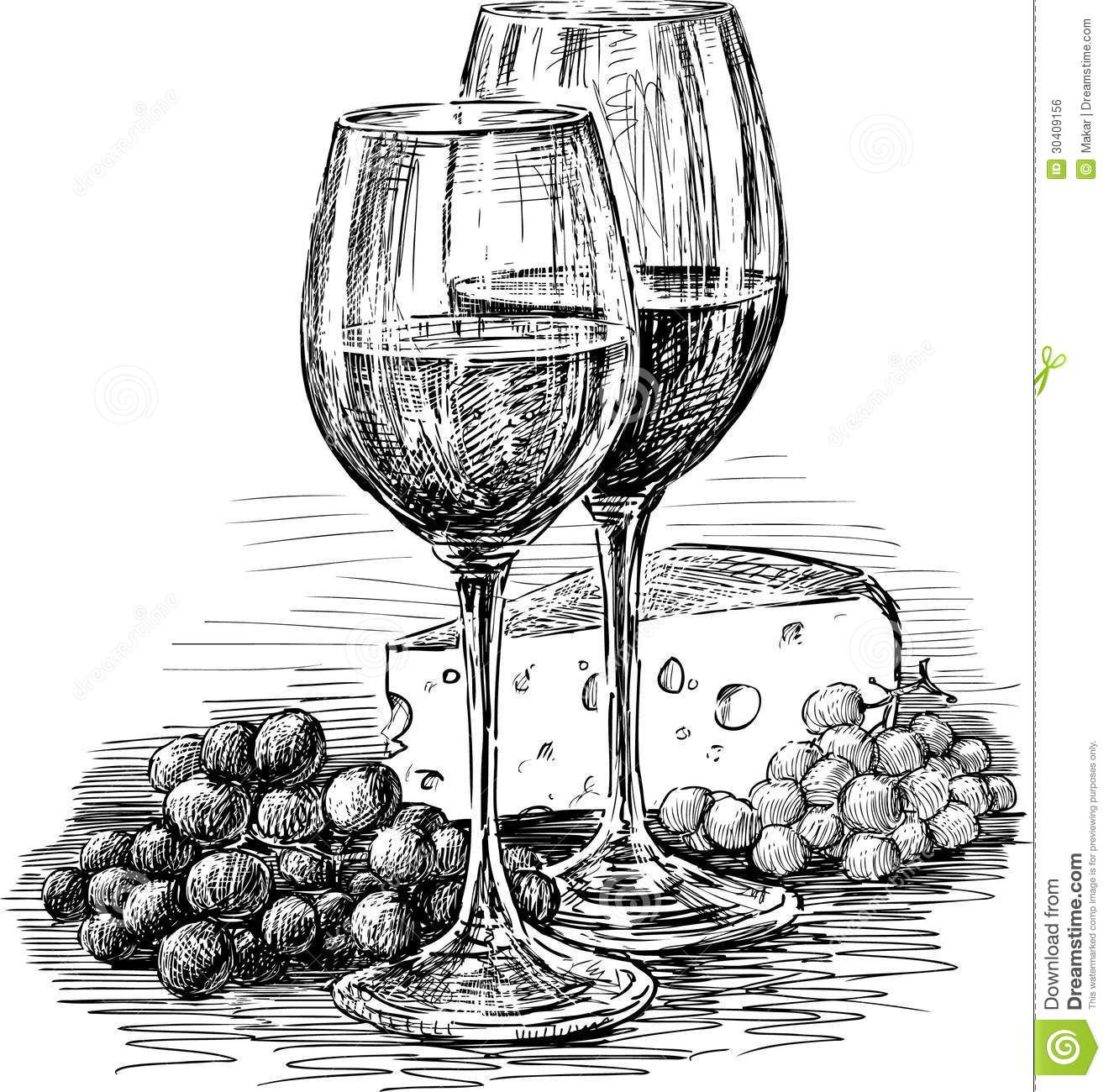 Wine glasses and cheese royalty free stock image image 30409156