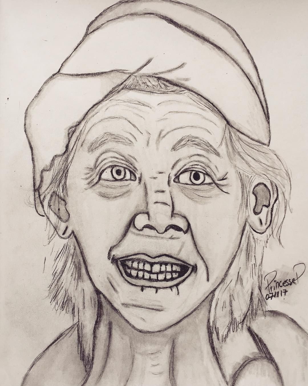 Artist paperdrawing art drawings drawingoftheday portraits draw draws pencil sketch blackandwhite nanny oldpeople drawingaday pencildrawing