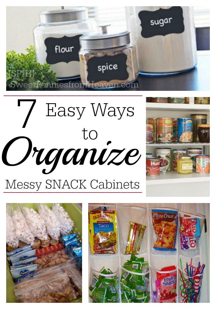 Superbe Here Are 7 Super Easy Ways To Organize Snack Cabinets And Pantries. I Love  Kitchen Organization Tips And Since My Snack Cabinet Is Always A Mess, ...