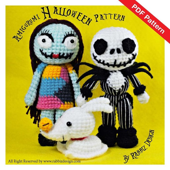PDF Pattern Amigurumi Halloween Set Jack by rabbizdesign on Etsy ...