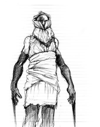 Scraper Sketch Silent Hill 3 Silent Hill Art Silent Hill