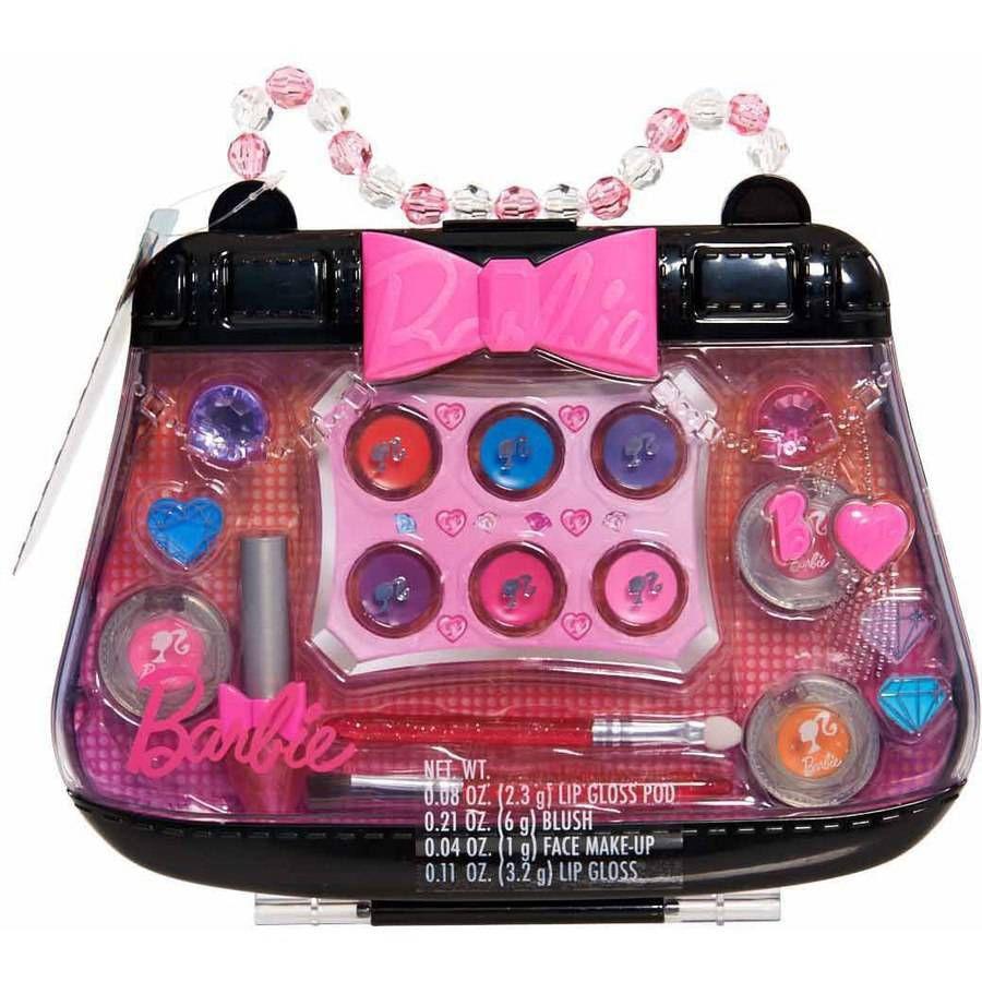 Barbie Purse Perfect Makeup Case Walmart Com In 2020 Makeup Case Makeup Kit For Kids Kids Makeup