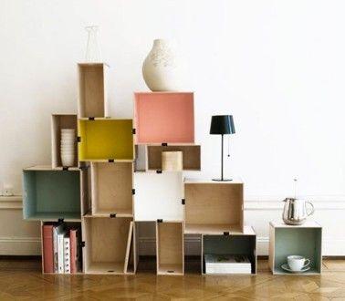biblioth que caisson modulable pour rangement salon biblioth que pinterest ikea diy. Black Bedroom Furniture Sets. Home Design Ideas