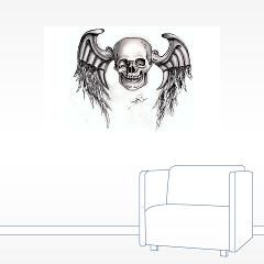 Skull Wings Re-Touch Wall Sticker > Skull Re-Touch > J.P.Gray Artwork Emporium