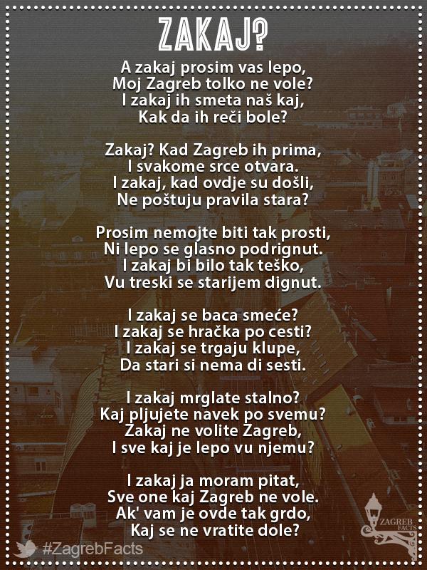 Zakaj Kad Zagreb Ih Prima I Svakome Srce Otvara Autor Pjesme Kresimir Poloski Zagrebfacts Zagreb Zg Agram Zakaj Kaj Zagreb Croatia Zagreb Croatia