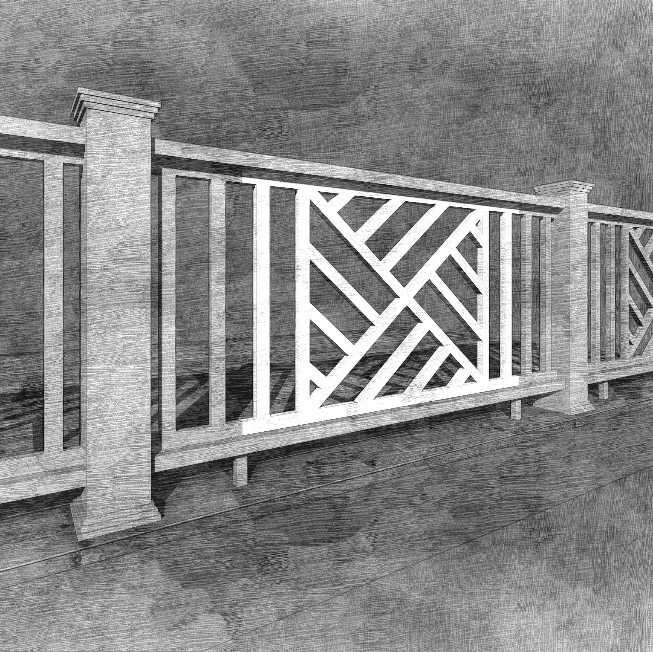 The Chippendale Panel | Decks, porches, Deck railings ...