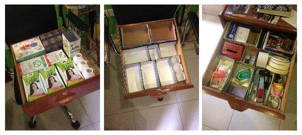 Organizar cajones de los escritorios   Frugalisima