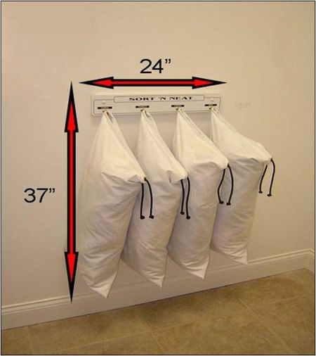 Wall Mounted Laundry Sorter Creates More Space In A Small