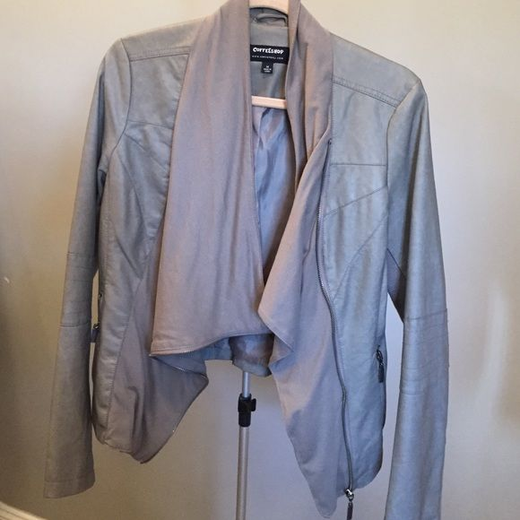 67f292a6dca Stitch Fix Coffeeshop Faux Leather Jacket For sale is a Stitch Fix  Coffeeshop brand Leanna Faux Leather Funnel Collar Jacket. EUC - think it  was worn twice.