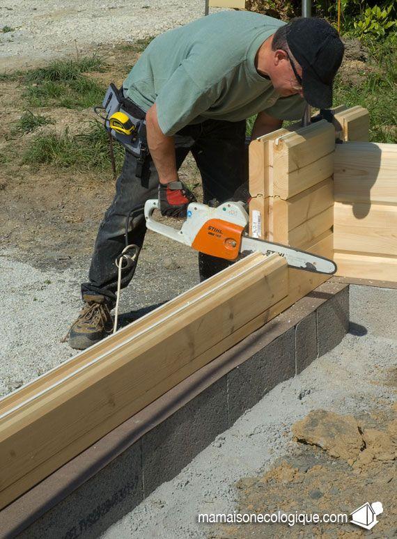 maison bois d coupe la tron onneuse des entr es wood. Black Bedroom Furniture Sets. Home Design Ideas