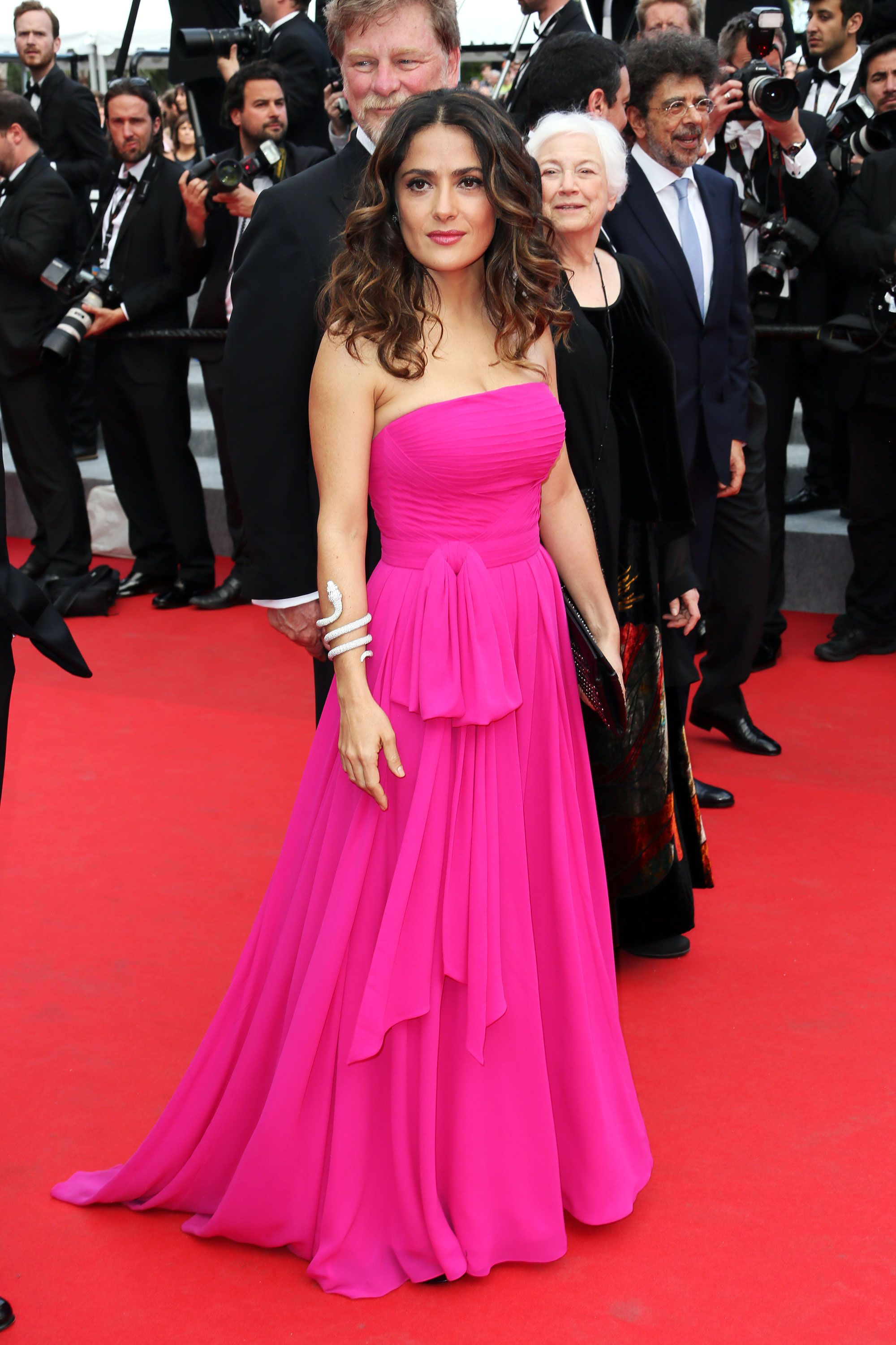 """Saint Laurent"" Premiere: Salma Hayek in Saint Laurent"
