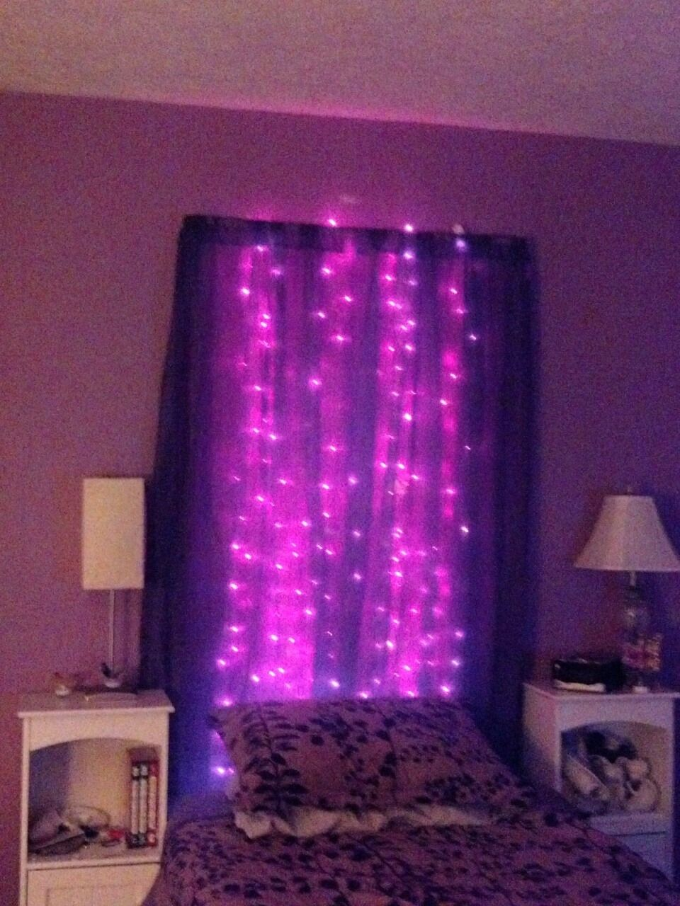 Purple Christmas Lights Amp Purple Sheer Curtains Purple