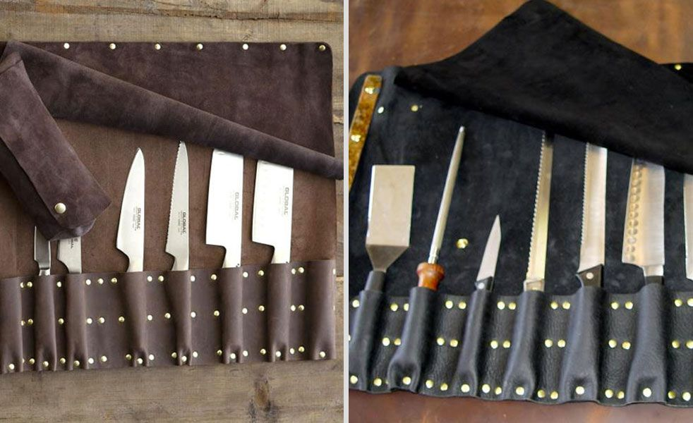 Steve Goodson has been hand making leather knife rolls for quite some time. Each Goodson leather knife roll is made with the highest quality leather, suede and brass, along with a copper wrapped st...