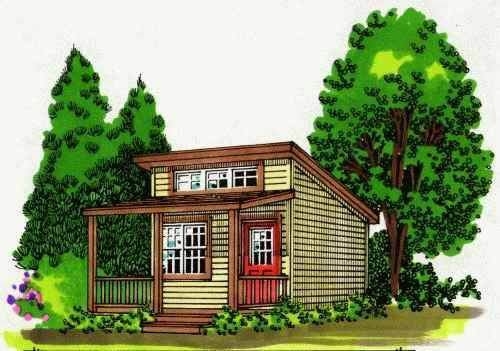 200 Square Foot Cottage The Cooper Cabin Easy To Build Cabin Plans Guest House Room Cabin Plans Cabin Outdoor Wood