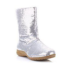 "I guess I would get these to go along with the fanny pack!  (no, seriously, on the boots...) HSN.com - Joan Boyce ""Emily"" Sequin Boot"