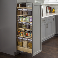 Wood Pantry Cabinet Pullout 5 1 2 X 22 1 4 X 53 Ppo2 554 In Wood Pantry Cabinet Pantry Cabinet Kitchen Design