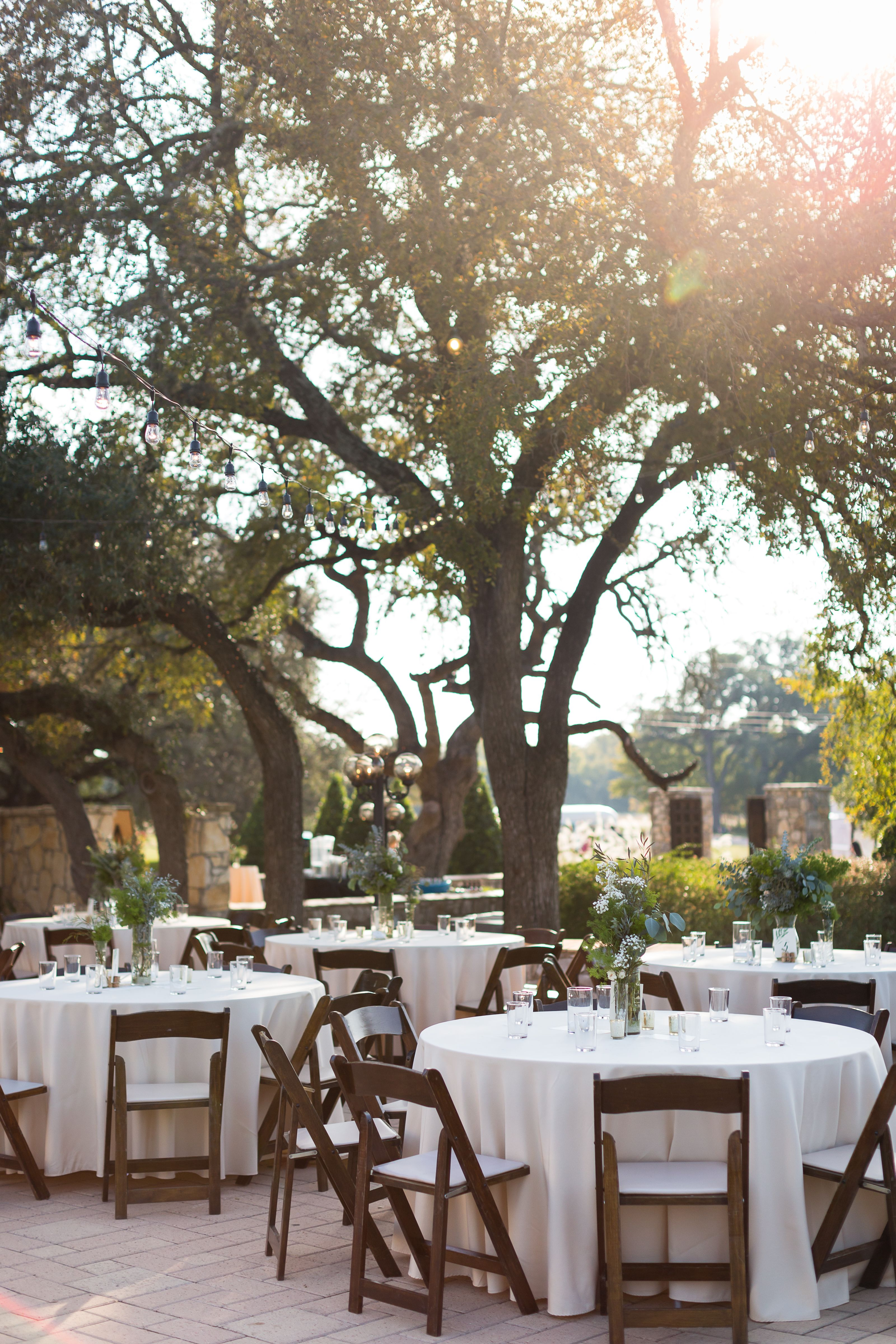 Wedding Reception Decor At The Vineyards At Chappel Lodge