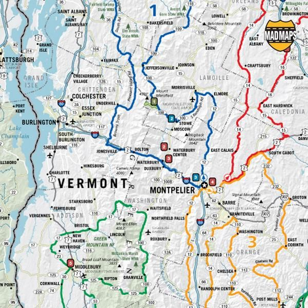 USRT Scenic Road Trips Map Of New England Road Trip Map - Road map maine